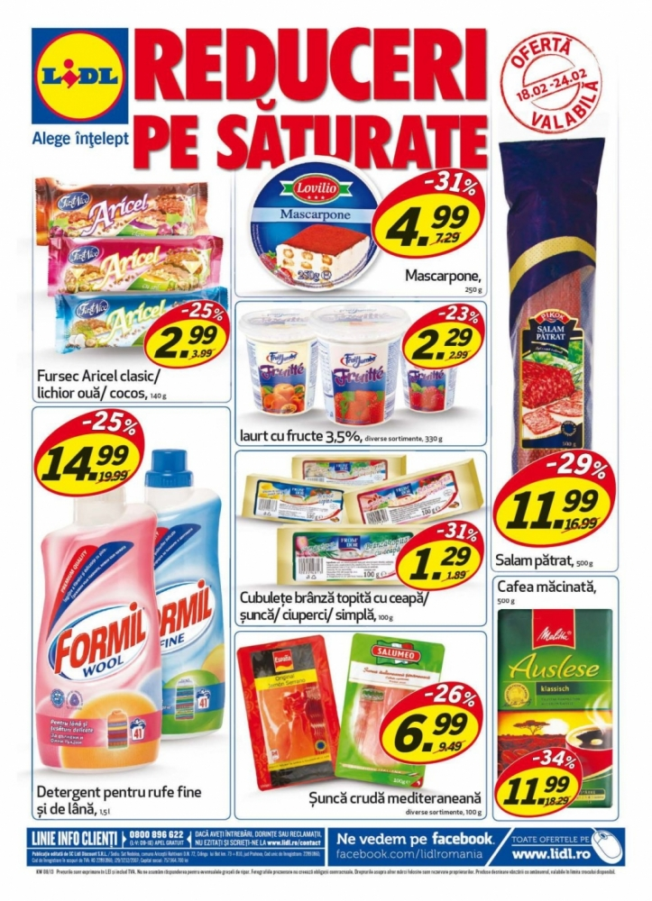 Catalog lidl oferte promotionale 18 24 februarie infoo for Cataleg lidl