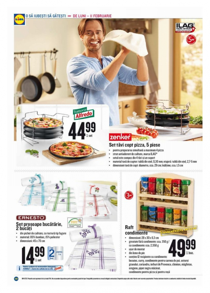Catalog lidl oferte promotionale 11 17 februarie for Cataleg lidl