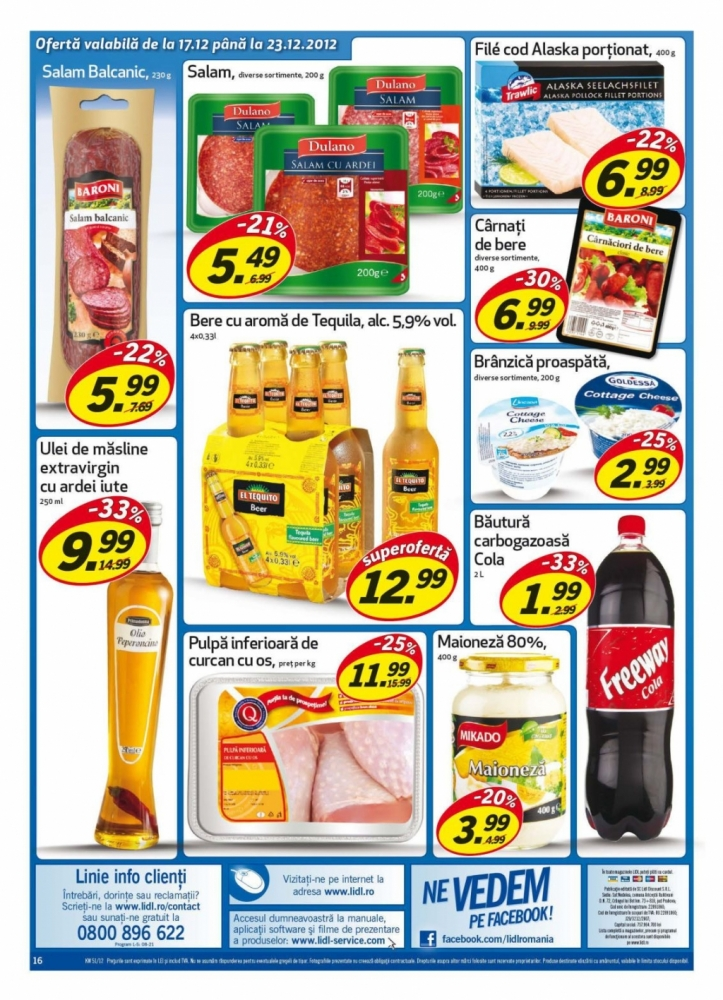 Catalog lidl oferte promotionale 17 23 decembrie infoo for Cataleg lidl