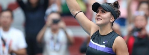 Bianca Andreescu s-a calificat in optimile turneului de la Beijing | Simona Halep a parasit competitia accidentata
